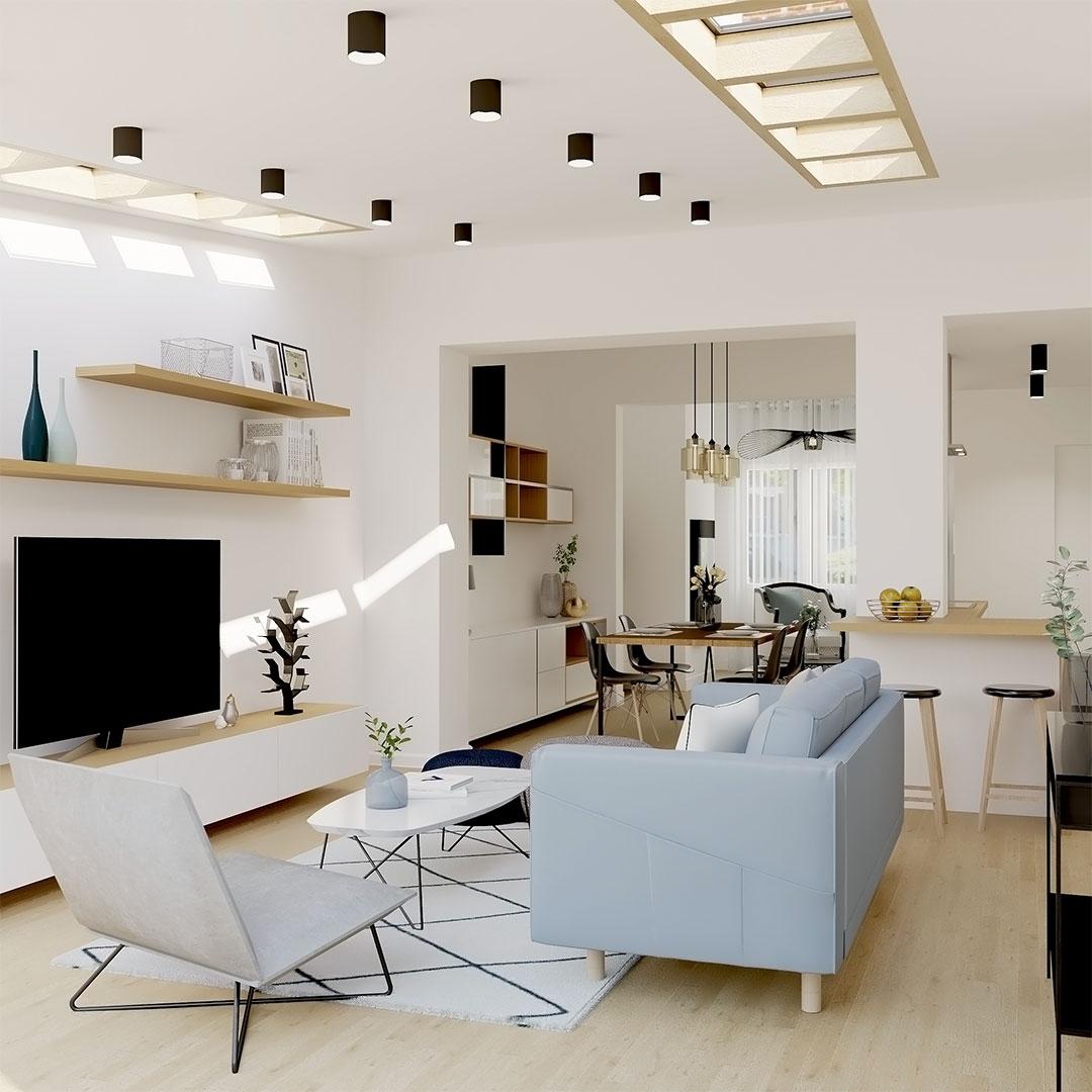 Extension-de-maison-avec-fenetre-en-velux-sur-le-toit