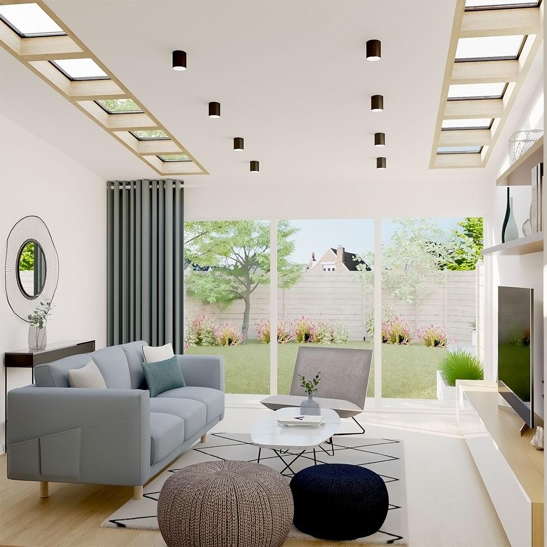 Extension-de-maison-vers-le-jardin-avec-fenetre-en-velux-sur-le-toit-maisonetvous