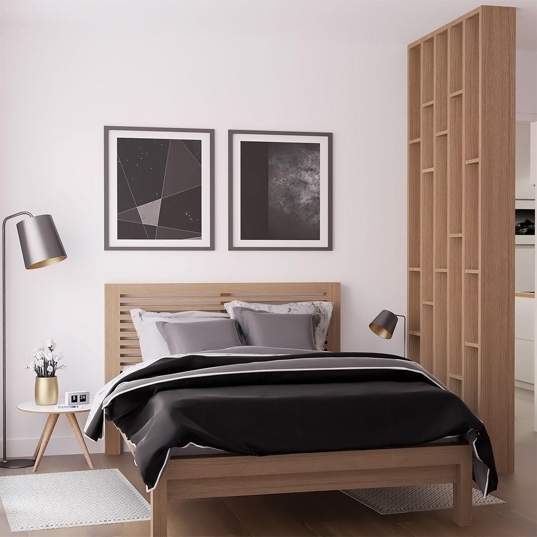 Rénovation-d'appartement-chambre-avec-parevente-en-bois---Maison-&-Vous