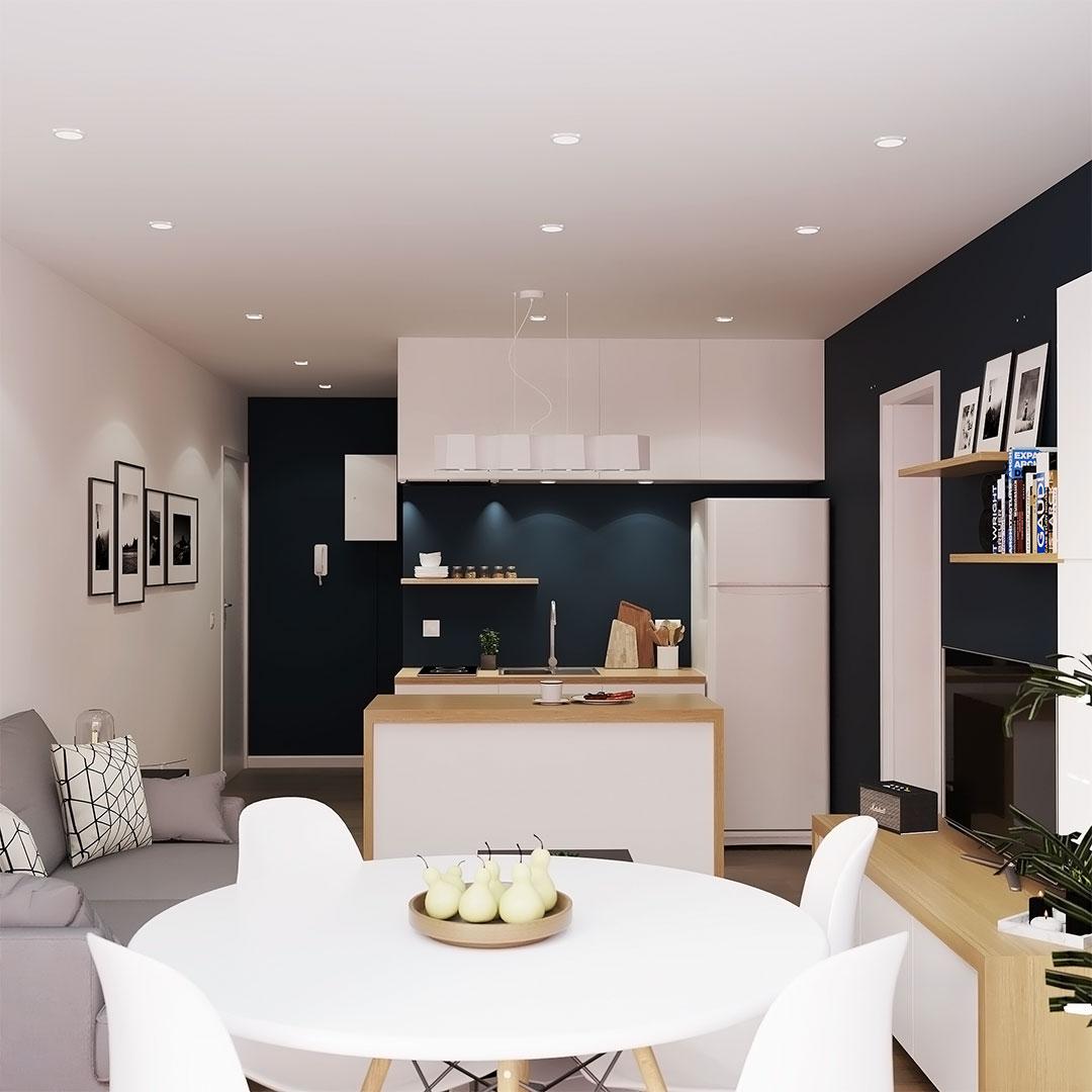 Rénovation-d'appartement-salle-a-manger-scandinave---Maison-&-Vous