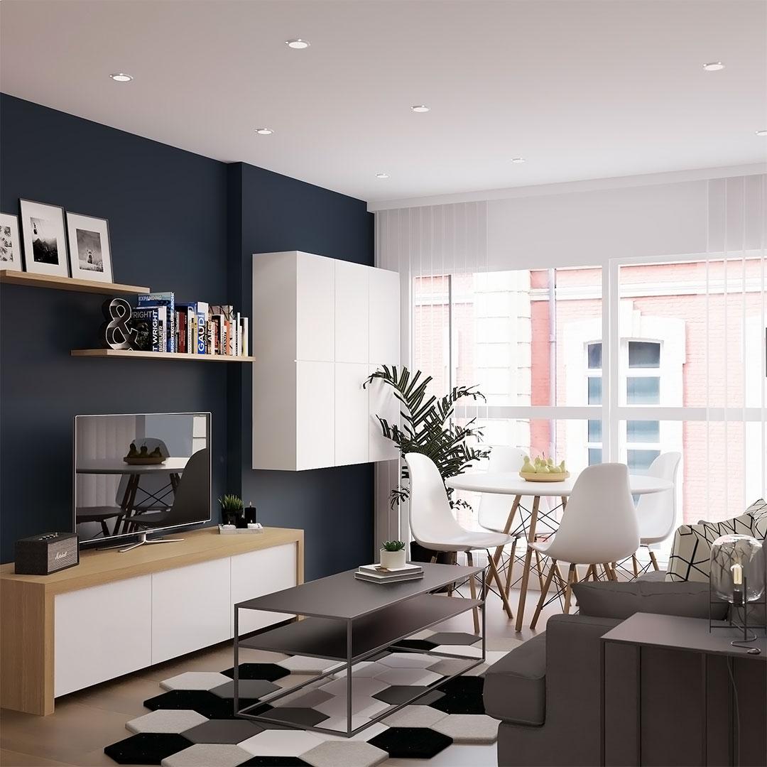 Rénovation-d'appartement-salon-bleu-scandinave---Maison-&-Vous