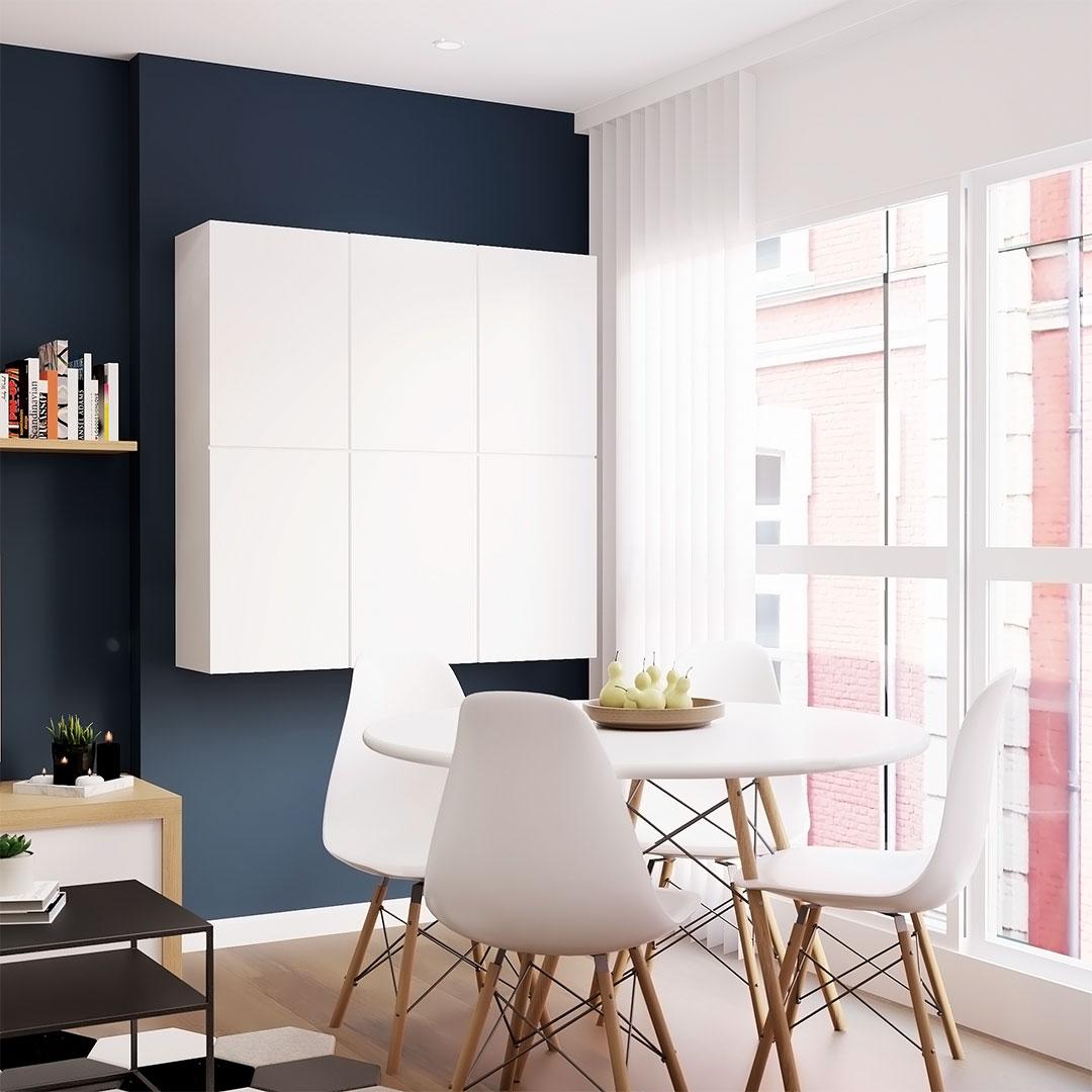 Rénovation-integrale-d'appartement-salle-à-manger-scandinave---Maison-&-Vous