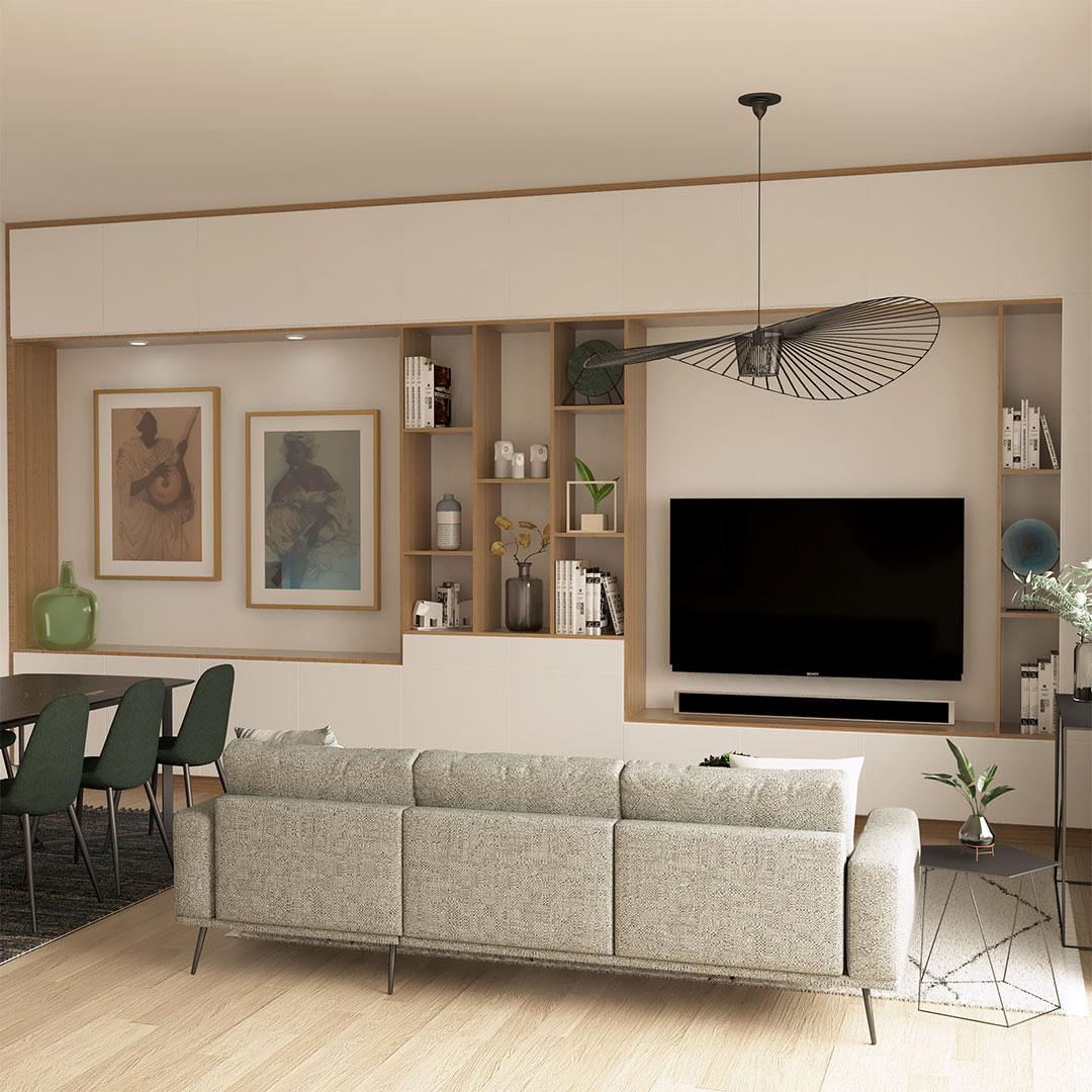 meuble-mural-sur-mesure-séjour-maisonetvous