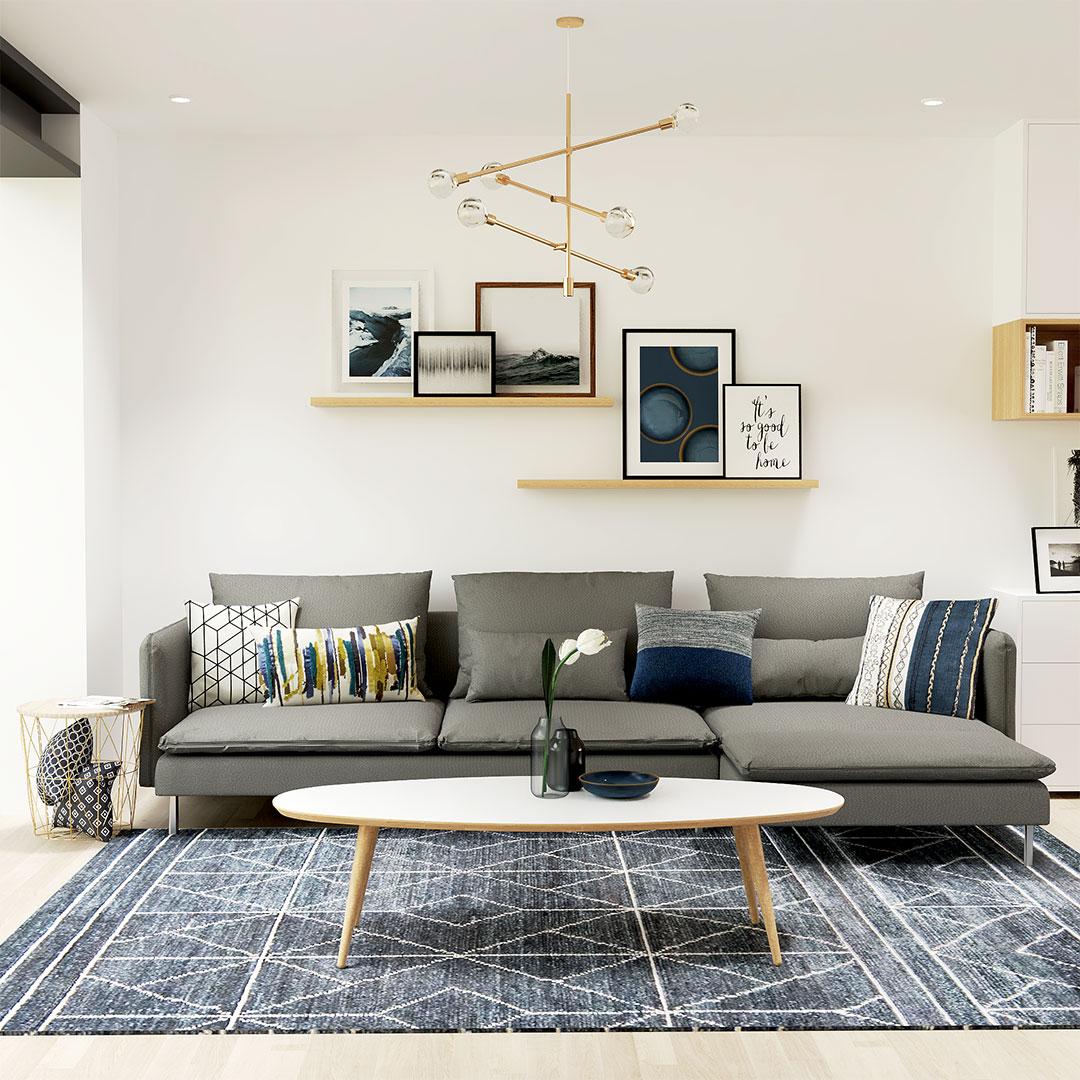 salon-rénovation-maison-salon-bleu-canapé-gris-ikea-contemporan-maisonetvous